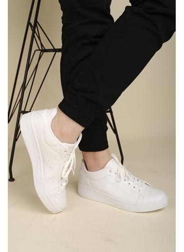 Oksit Dion Kalın Taban Erkek Sneaker Beyaz